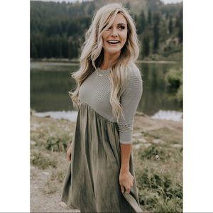 ROOLEE | Retten Stripe Midi Dress